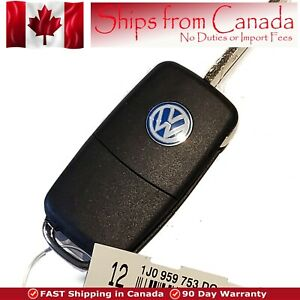 Brand New Original Vw Beetle Golf Jetta Etc Flip Key Keyless Entry Remote Fob