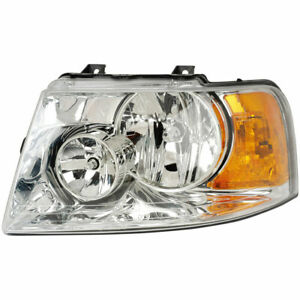 Left Driver Side Headlight Assembly For Ford Expedition 2003 2004 2005 2006