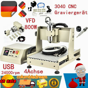 Usb 4 Axis 3040 Cnc Router Engraving Drilling Milling Machine 0 8kw Vfd Top