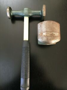 Auto Body Bumping Hammer With Fiberglass Handle And Hand Dolly