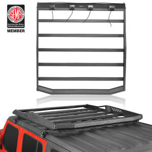 Textured Roof Rack Cargo Luggage Carrier For Jeep Wrangler Jl 18 20 4dr Hard Top
