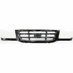 New Fo1200393 Grille Painted Black Shell And Insert For Ford Ranger 2001 2003