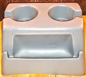 80 97 Ford Truck F100 F150 F250 F350 Bronco Gray Center Console Cup Holder Oem