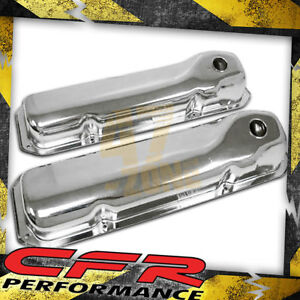 1969 82 Ford Small Block 351c 351m 400m boss 302 Steel Valve Covers Chrome