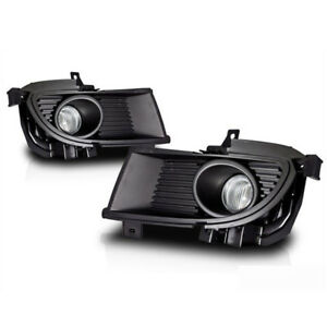 For 2004 2005 Mitsubishi Lancer Clear Lens Chrome Housing Abs Fog Lights Lamps