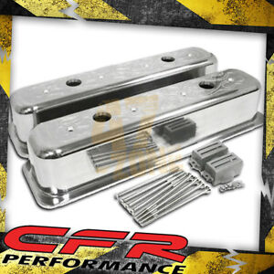 1987 97 Chevy 5 0l 5 7l Tall Polished Al Center Bolt Valve Covers Flamed