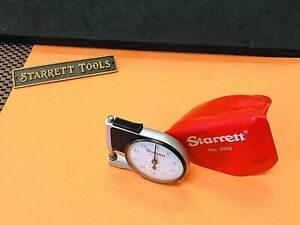 Starrett No 1010 e Dial Indicator Pocket Gage With Red Plastic Pouch Usa Made