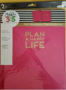 New Me My Big Ideas The Big Happy Planner Snap In Hardcover Pink W gold Foil