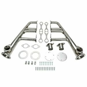 Exhaust Header Kit Stainless Steel For Chevy 265 400 Small Block 4 1 Lake Style