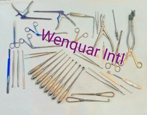 Laminectomy Set 35 Pcs Surgical Orthopedic Insturmants With Steel Box