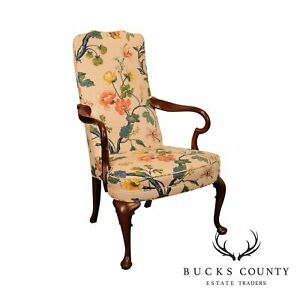 Hickory Chair Co Mahogany Queen Anne Armchair