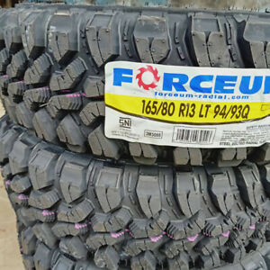 4 New 165 80r13 Inch Forceum Mud Tires 1658013 M T Mt 80 13 80r13 8 Ply