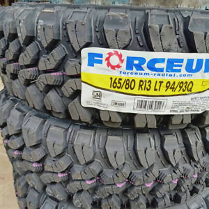 4 New 165 80r13 Inch Forceum Mud Tires 1658013 M T Mt 80 13 80r13