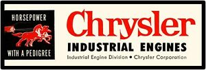 1956 Chrysler Industrial Engines New Metal Sign 6 X 18 Free Shipping