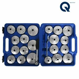 Cup Type Aluminium Oil Filter Wrench Removal Socket Remover Tool Kit 23pcs Us