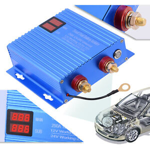 250 Amp Dual Battery Isolator 12v 24v Vsr Heavy Duty Emergency Starter For Utv