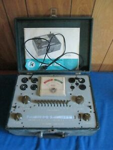 Vintage Knight 600a Tube Tester With Manual For Parts Or Repair