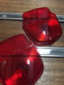 Sold As Pair 1955 1956 Ford Truck Tail Light Lamp Lens F100 F250 Pickup