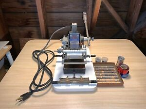 Howard Machine model 150 Personalizer Hot Foil Stamping Machine And Extras