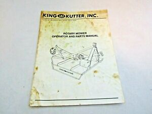 King Kutter Rotary Mower Operations Parts Manual