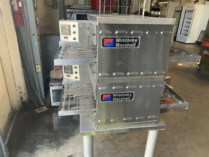 Middleby Marshall Ps520g Double Stack Conveyor Pizza Oven reconditioned