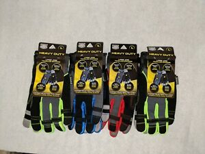Lot Of 4 Pugs Heavy Duty Work Gloves Size Large New W tags