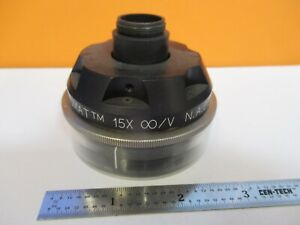 Spectra tech 15x Reflective Objective Microscope Part As Pictured 8m a 49