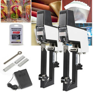 Desktop Electric Saddle Stapler Staples Set Dual Head Binder Device Office Use