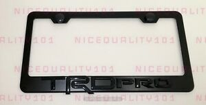 3d Trd Sports Pro Stainless Steel Black Finished License Plate Frame Rust Free