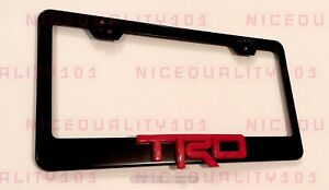3d Trd Sports Pro Stainless Steel Finished License Plate Frame Rust Free