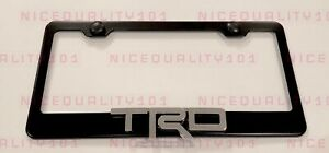3d Trd Sports Pro Stainless Steel Chrome Finished License Plate Frame Rust Free