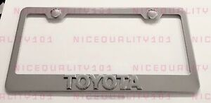 3d Camry Stainless Steel Finished License Plate Frame Rust Free