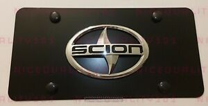 3d Scion Front Stainless Steel Finished License Plate Frame Holder