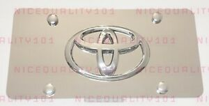 3d Toyota Front Stainless Steel Finished License Plate Frame Holder