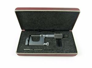 Starrett 220 Mul t anvil Micrometer With Case Attachments
