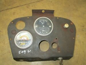 Ih Farmall 504 Utility Original Dash Panel Antique Tractor
