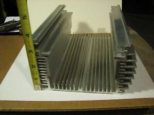 Large Reclaimed Extruded Aluminum Heat Sink 8 x6 x3 5