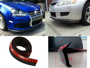 Btr Universal Front Bumper Lip Spoiler Body Side Skirt Rubber Protector 2 5m