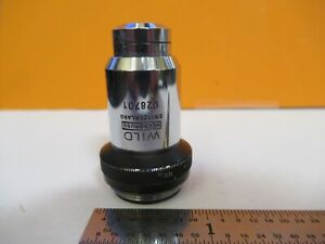 Wild Swiss Hi 100x Objective Lens Microscope Part Optics As Pictured 8m a 80