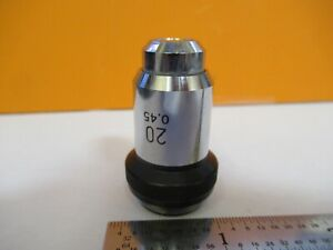 Wild Swiss 20x Objective Lens Microscope Part Optics As Pictured 8m a 82a