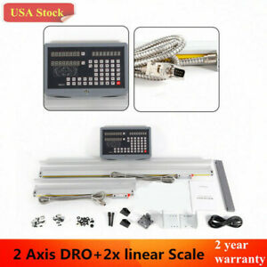 Usa 2 Axis Digital Readout Dro Milling Lathe Machine With Precision Linear Scale