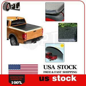 Short Tonneau Bed Cover Fits For 2005 2015 Toyota Tacoma 5ft Soft Tri fold