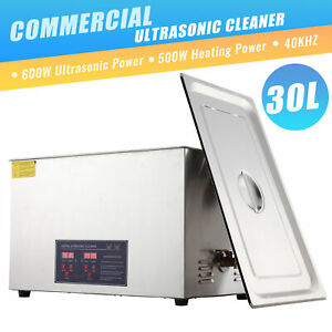 Professional 30l Ultrasonic Cleaning Jewelry Cleaner Machine With Heater timer