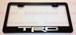 Trd Pro Sport 4x4 Stainless Steel Finished License Plate Frame Holder Rust Free