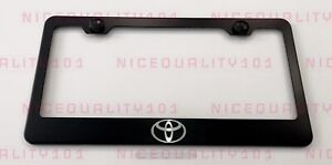 Toyota Logo Stainless Steel Finished License Plate Frame Holder Rust Free
