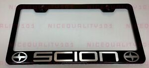 Scion Stainless Steel Finished License Plate Frame Holder Rust Free