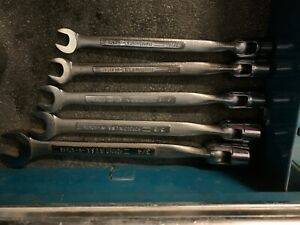 5 Craftsman Flex Socket Combination Wrenches 7 16 3 4 12 Point V Series Lot