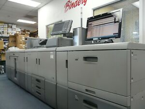Ricoh Pro8120se W high Capacity Feeder interposer gbc Punch Unit stackerincluded