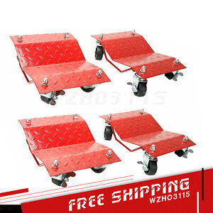 Set Of 4 Pc Auto Dolly Car Dolly Wheel Tire 12 X16 Skate 6000lb Repair Slide