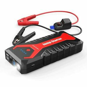 2000a Peak 20800mah Portable Car Jump Starter Auto Battery Booster Pack Safety